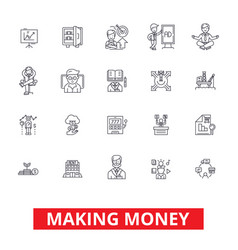 making money financial savings business success vector image