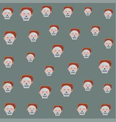 Man with halloween skulls masks heads pattern vector