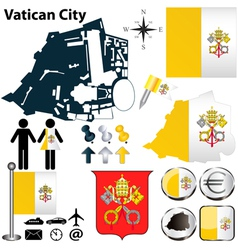 Map of Vatican City vector image