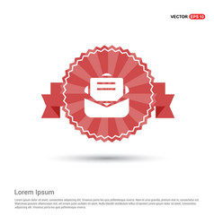 Message icon - red ribbon banner vector
