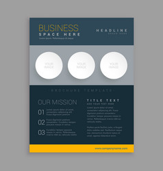 Modern dark brochure design in simple geometric vector