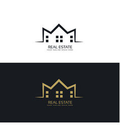 modern logo design for real estate sector vector image