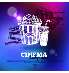 Movie cinema poster vector