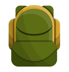 olive color backpack icon cartoon style vector image