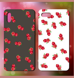 Original fruit pattern on phone cover vector