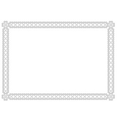 ornamental frame in white with black outlines vector image