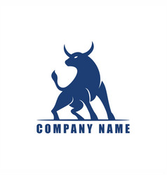 Ox bull logo design vector