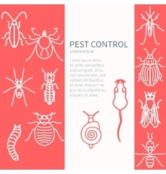 Pest control template vector image