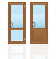 Plastic doors 05 vector