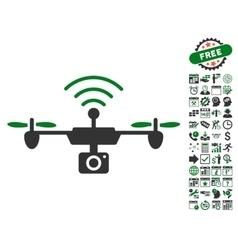 Radio Camera Airdrone Icon With Bonus vector