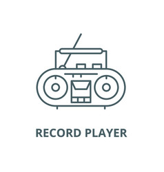 record player line icon linear concept vector image