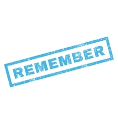Remember Rubber Stamp vector