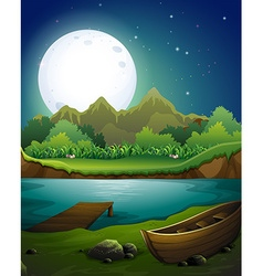 River at night vector image