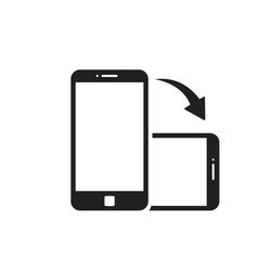 Rotate smartphone isolated icon device rotation vector