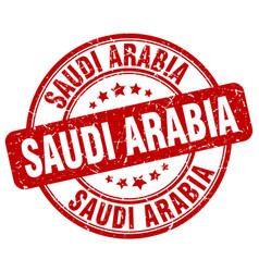 Saudi arabia red grunge round vintage rubber stamp vector