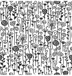 seamless cute pattern of flora vector image