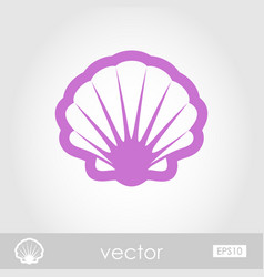 seashell outline icon summer vacation vector image