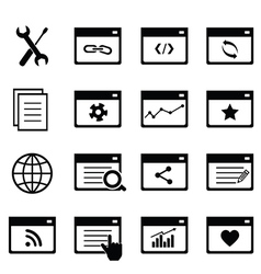 SEO icons vector image