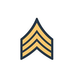 Sergeant sgt soldier military rank insignia icon vector