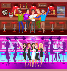 Set bachelor party fiance and groom vector