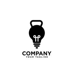 Smart fitness logo design template vector