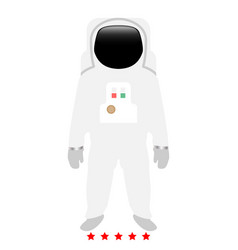 Spaceman icon color fill style vector