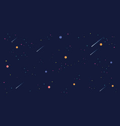 Star universe background cosmic planet dipper vector