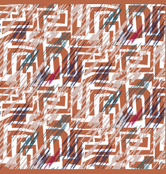 stroked mosaic maze shapes abstract seamless vector image