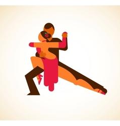 Tango dancer vector