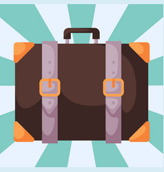Travel tourism fashion baggage luggage vacation vector