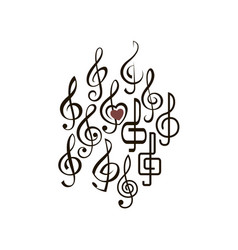 treble clef set vector image