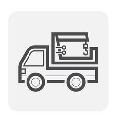 truck icon black vector image