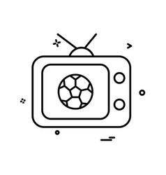 tv football icon design vector image