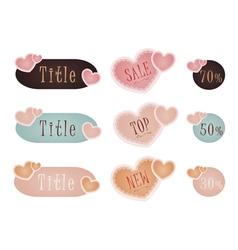 Valentine day sticker set vector