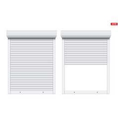 White roller shutters on window vector