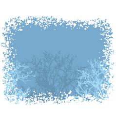 winter snow border background vector image