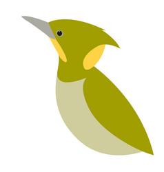 Woodpecker bird flat style vector