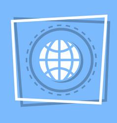 World globe icon earth planet concept vector