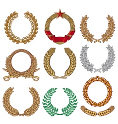 Wreath set - Laurel wreath vector