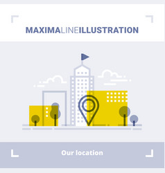 concept of company location and office address vector image