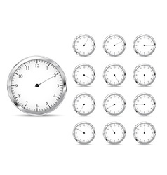 Set of clock icons vector image vector image