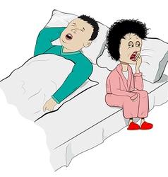 snoring vector image