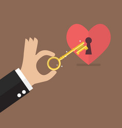 unlock the heart vector image vector image