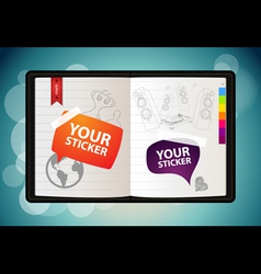vector sketchbook vector image