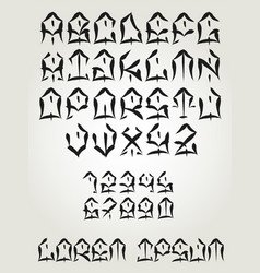 west coast graffiti font - hand written tattoo vector image