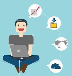 Work Online vector image vector image