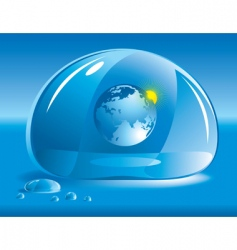 world in a drop of water vector image vector image