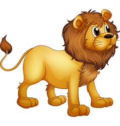 cartoon strong lion vector image