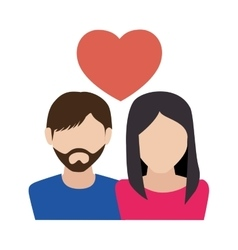 couple love with heart vector image