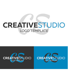 creative studio logo letter c logo logo vector image